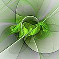 Abstract Green Fractal Art by Gabiw Art