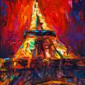 Abstract Impressionistic Eiffel Tower Painting by Svetlana Novikova