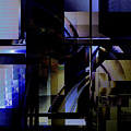 Abstract In Blue-dark Towers by Richard Ortolano