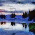 Abstract Invernal River by Galeria Trompiz