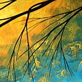 Abstract Landscape Art Passing Beauty 2 Of 5 by Megan Duncanson