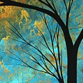 Abstract Landscape Art Passing Beauty 3 Of 5 by Megan Duncanson