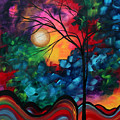 Abstract Landscape Bold Colorful Painting by Megan Duncanson