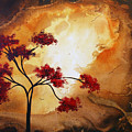 Abstract Landscape Painting Empty Nest 12 By Madart by Megan Duncanson