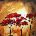 Abstract Landscape Painting Empty Nest 2 By Madart by Megan Duncanson