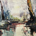 Original Watercolor Painting. Abstract Watercolor Landscape Painting by Nini Gudadze
