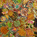 Abstract Leaves by Karen Merry