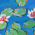 Abstract Lily Pads by Karen Fields