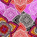 Abstract Mandala Floral Design by Long Shot