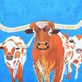 Abstract Mehndi Texas Longhorns by Artistic Indian Nurse