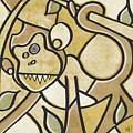 Funky Monkey - Zeeko Abstract Monkey by Roly O