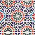 Abstract Moroccon Tiles Colorful by Lyriel Lyra