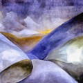 Abstract Mountain Landscape by Michelle Calkins