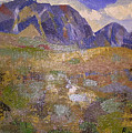 Abstract Mountain Landscape by Robyn Louisell