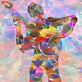 Abstract Musican Guitarist by Dan Sproul