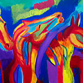 Abstract Mustangs by Aditya Anil