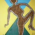 Abstract Nude Ebony In Heels by Stormm Bradshaw