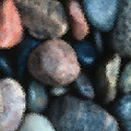 Abstract Of River Rocks 1 by Steve Ohlsen