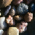 Abstract Of River Rocks 2 by Steve Ohlsen