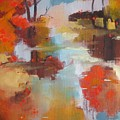 Abstract Of Wild Auge River  by Kim PARDON