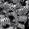 Abstract Of Zebras Statue In Various Sizes  by Atlantis Images