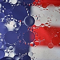 Abstract Oil And Water Usa 2 by Dennis Nelson
