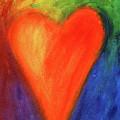 Abstract Orange Heart 1 by Karen Kaspar