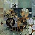 Abstract Painting - Dove Grey by Vitaliy Gladkiy