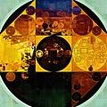 Abstract Painting - Gamboge by Vitaliy Gladkiy