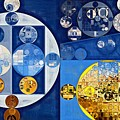 Abstract Painting - Havelock Blue by Vitaliy Gladkiy