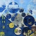 Abstract Painting - Kashmir Blue by Vitaliy Gladkiy