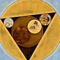Abstract Painting - Satin Sheen Gold by Vitaliy Gladkiy
