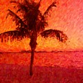 Abstract Palm by Florene Welebny