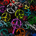 Abstract Peace Signs Collage by David G Paul
