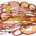 Abstract Pen Drawing Eight by Lynne Taetzsch