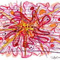 Abstract Pen Drawing Fifteen by Lynne Taetzsch