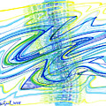 Abstract Pen Drawing Forty by Lynne Taetzsch