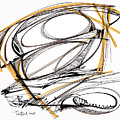 Abstract Pen Drawing Four by Lynne Taetzsch
