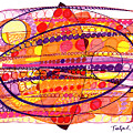 Abstract Pen Drawing Fourteen by Lynne Taetzsch