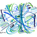 Abstract Pen Drawing Thirty-three by Lynne Taetzsch