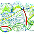 Abstract Pen Drawing Thirty-two by Lynne Taetzsch
