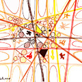 Abstract Pen Drawing Three by Lynne Taetzsch