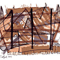 Abstract Pen Drawing Twelve by Lynne Taetzsch