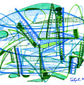 Abstract Pen Drawing Twenty-eight by Lynne Taetzsch
