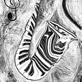 Piano Keys In A Saxophone 2 - Music In Motion by Wayne Cantrell