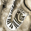 Piano Keys In A Saxophone 3 - Music In Motion by Wayne Cantrell