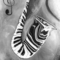 Piano Keys In A Saxophone 4 - Music In Motion by Wayne Cantrell