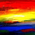 Abstract Rainbow And Sunset by Teo Alfonso