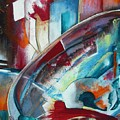 Abstract Red And Blue A by Anthony Hurt