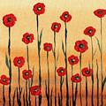Abstract Red Poppy Field by Irina Sztukowski